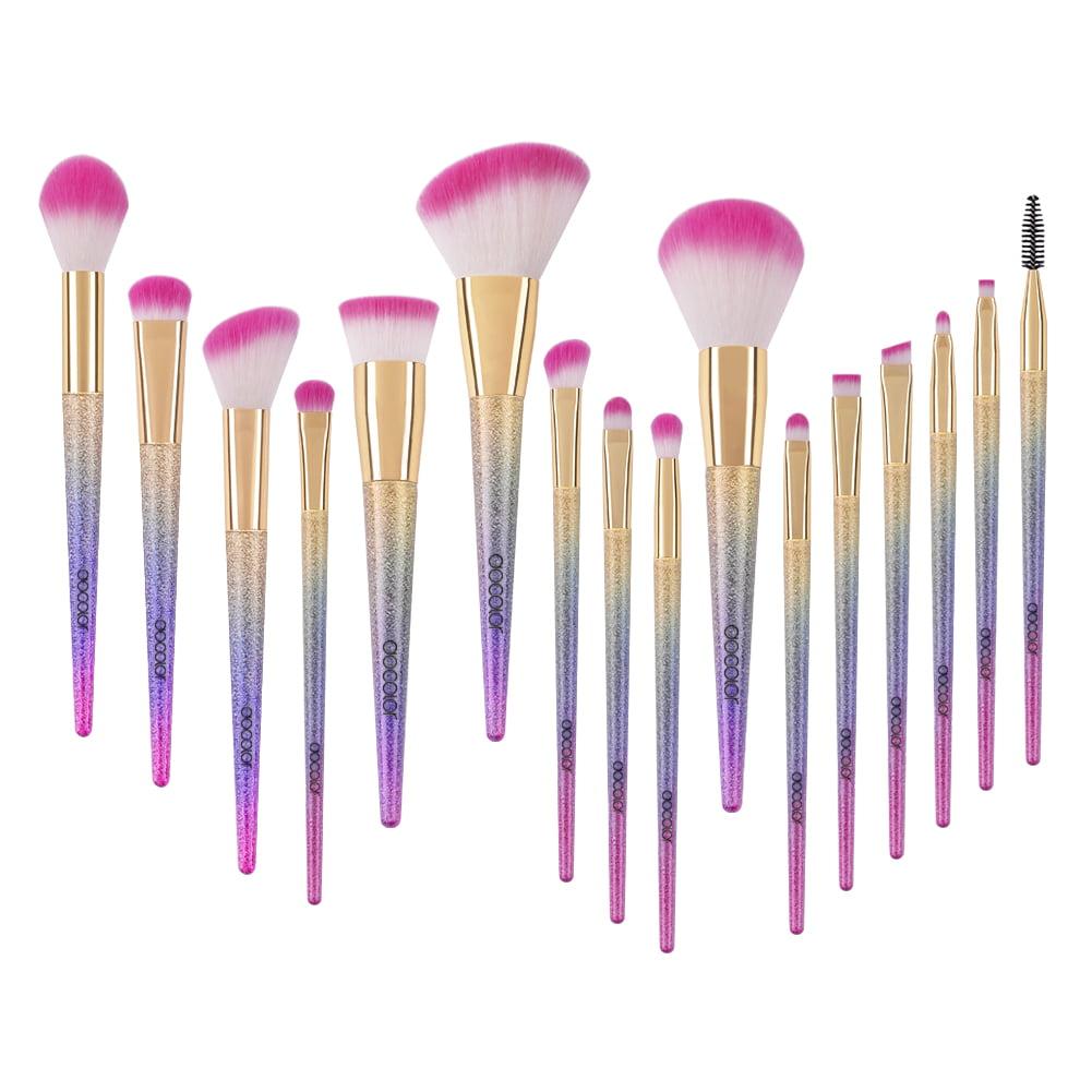 579e22c102e1 Docolor Makeup Brushes Clearance 16Pcs Fantasy Unicorn Brush Set Powder  Foundation Eye Cosmetic Kit
