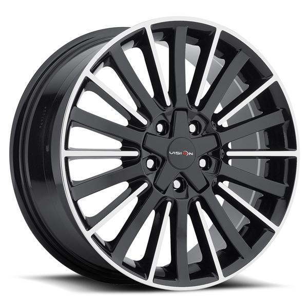Vision 466 Conduit 17x8 5x110/5x115 +38mm Black/Machined Wheel Rim