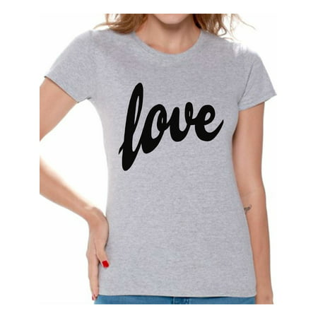Awkward Styles Love Shirt Valentines Day Shirt Love Tshirt for Women Valentines T shirt Women's Love T-Shirt Valentine's Day Gifts for Her Love Gift Idea for Wife Anniversary Gift Love Tee Shirt](100th Day Shirt Ideas)
