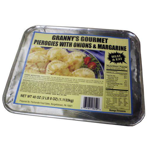 Granny's Gourmet Pierogies with Onions & Margarine, 40 oz