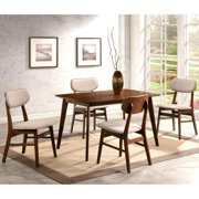 A Line Furniture Peony Mid-Century Design Chestnut 5-piece Dining Set