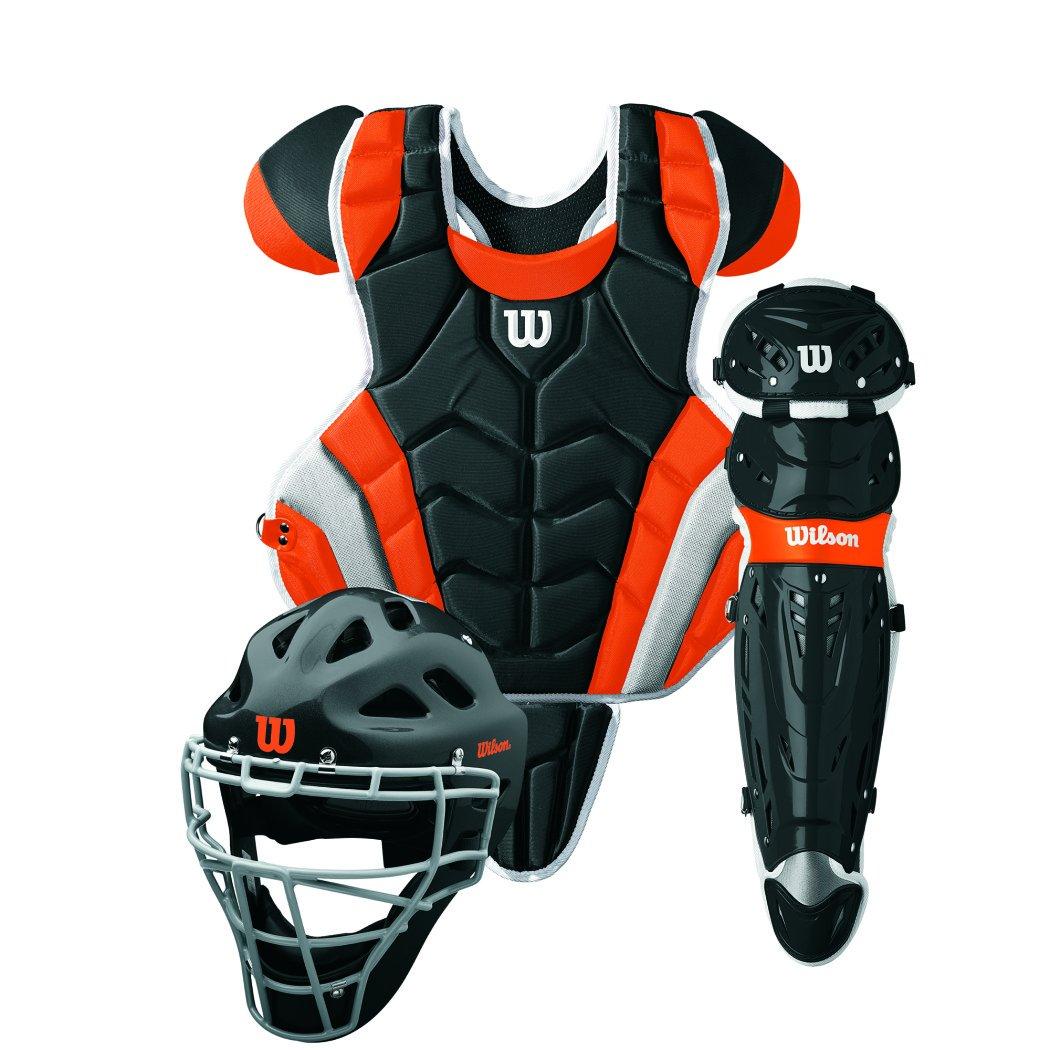 Wilson C1K Intermediate Catchers Gear Kit, Black/Orange Intermediate