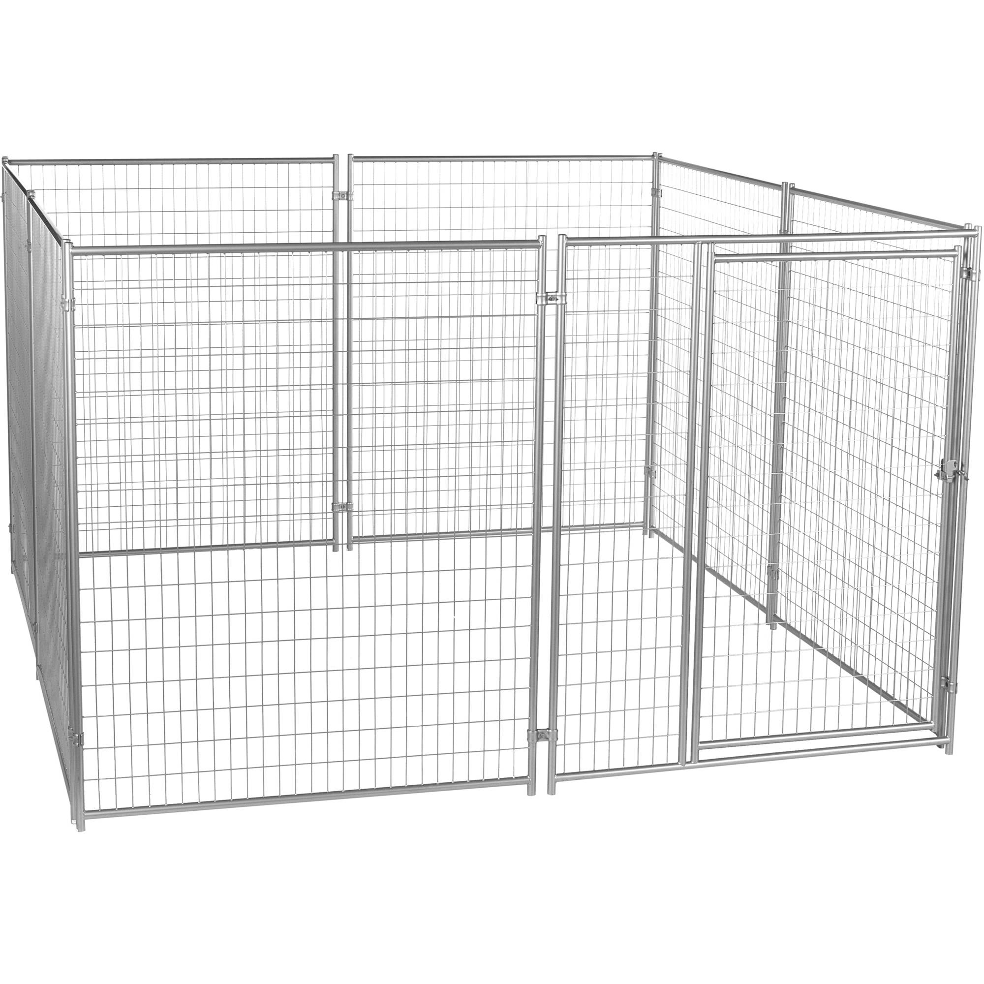 Lucky Dog 6'H x 10'W x 10'L Modular Welded Wire Kennel Kit