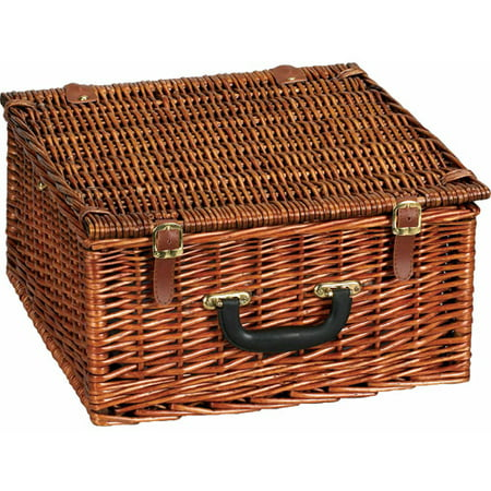 Household Essentials Willow Picnic Basket with Service for 2