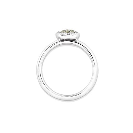 Ladies Natural Peridot Ring 1/5 Carat (ctw) in Sterling Silver - image 3 de 3
