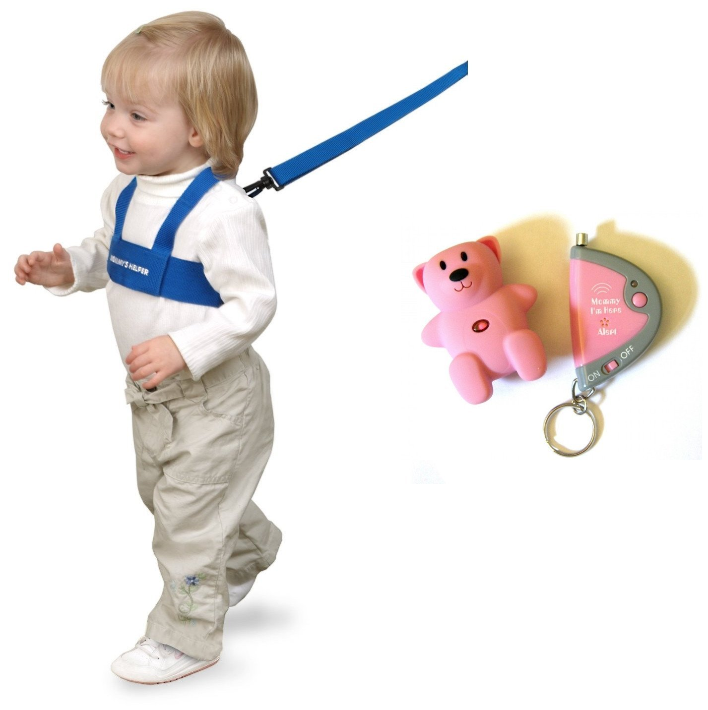 Mommy I'm Here Child Locator with BONUS Safety Harness, Pink