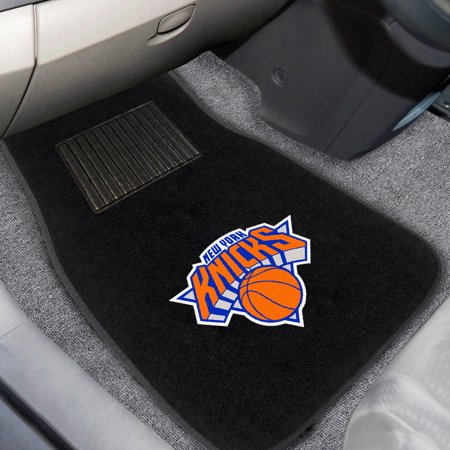 New York Knicks 2-Piece Embroidered Car Mat Set - No
