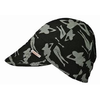 Black/Gray Comeaux Caps Reversible Welding Cap Silhouette Size 8