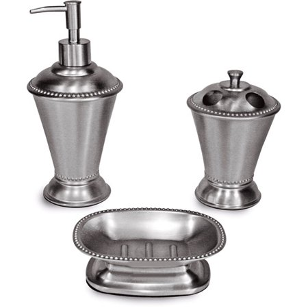 Better Homes And Gardens Classic Brushed 3 Piece Bath Accessories Set Walma