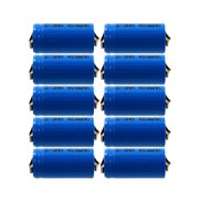 10 x Rechargeable Battery 2/3AA NiCd with Tabs for Solar Light FAST USA SHIP