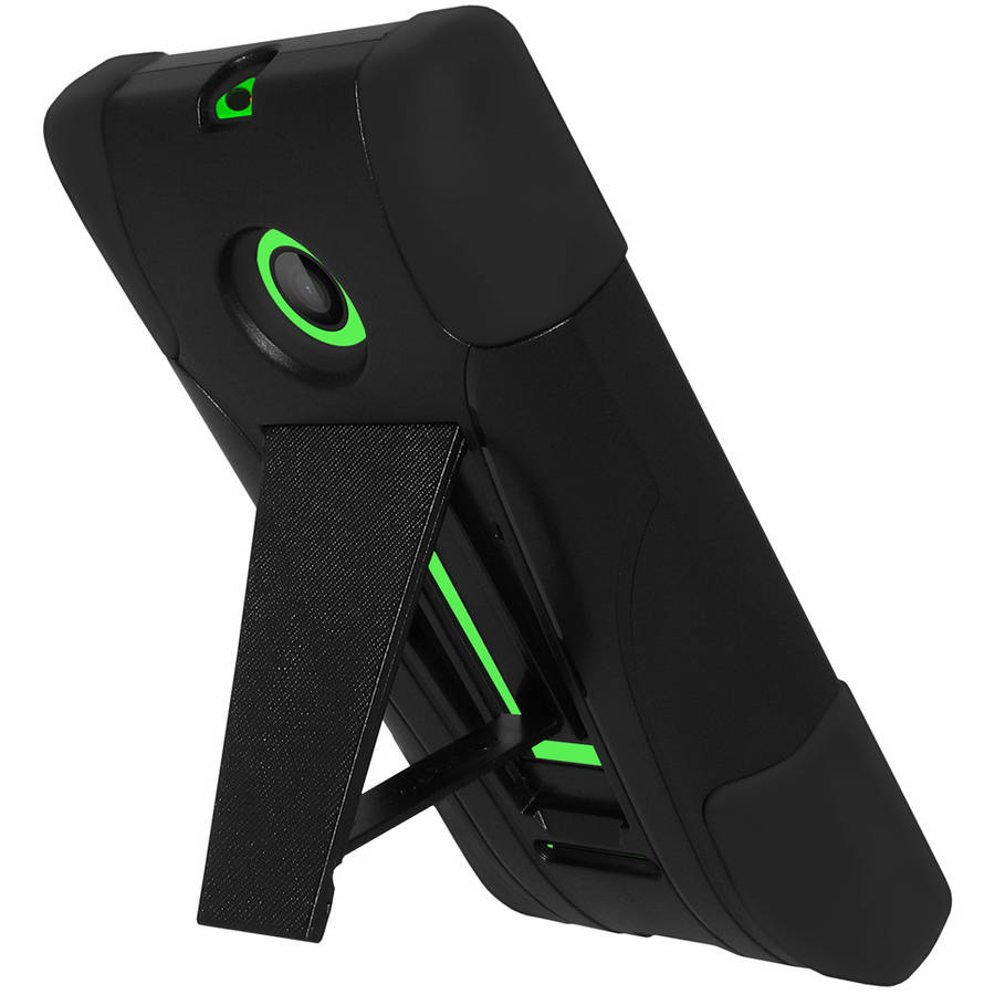 Amzer Double-Layer Hybrid Case with Kickstand for Microsoft Lumia 435