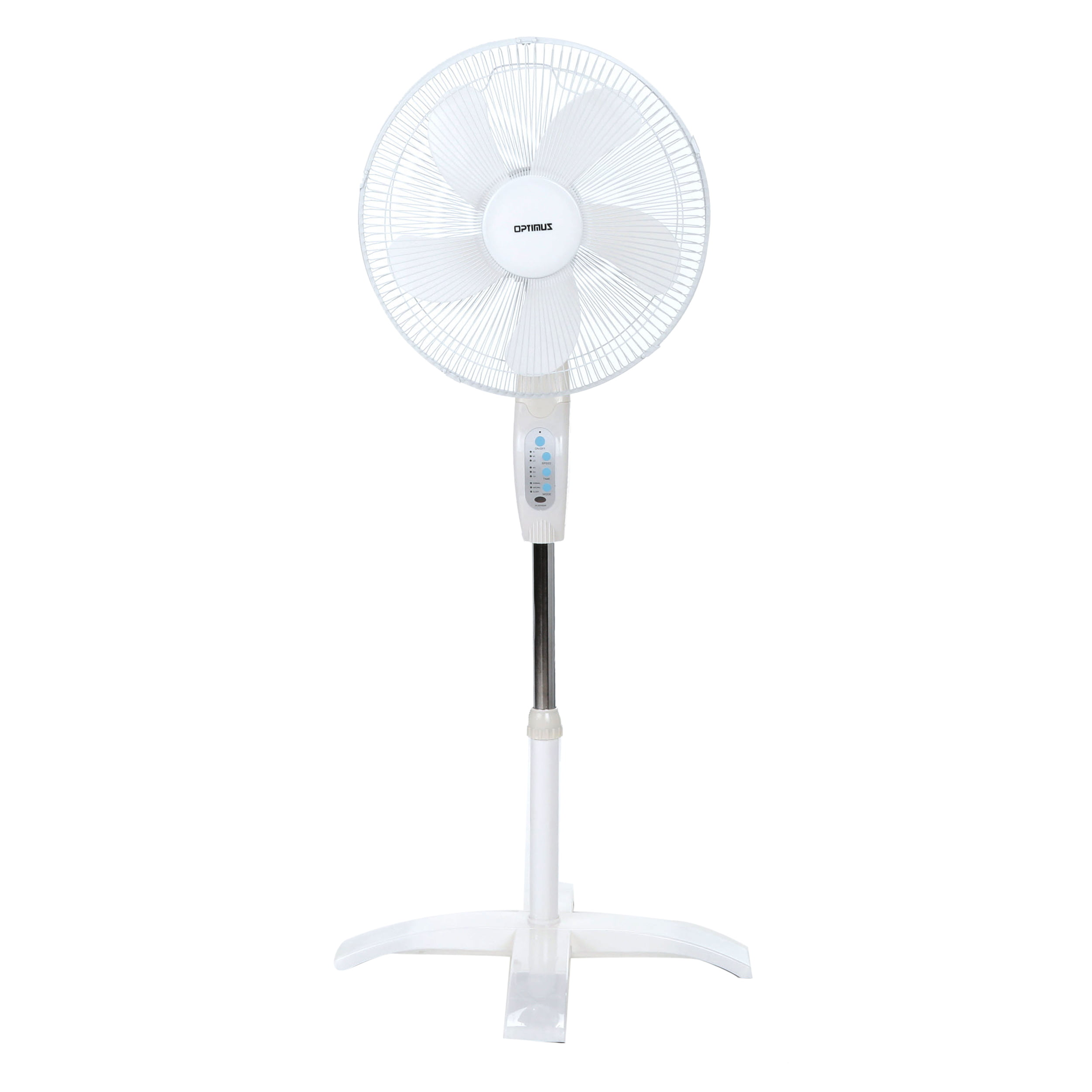Optimus 16 Wave Oscillating Stand 3 Speed Fan Model F 1760 White With Remote Walmart Com Walmart Com