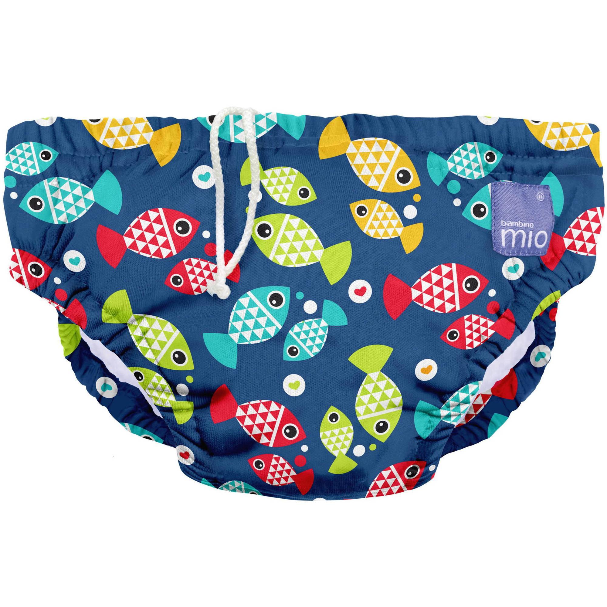 Bambino Mio Reusable Swim Diaper, Aquarium, (Choose Your Size)