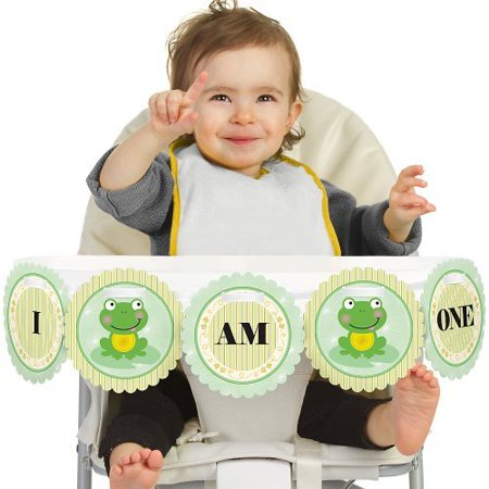 Froggy Frog 1st Birthday - I Am One - First Birthday High Chair Banner