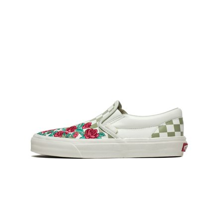 0506564012 Vans - Mens Vans Classic Slip-On DX Rose Embroidery Marshmallow Turtledove  VN - Walmart.com