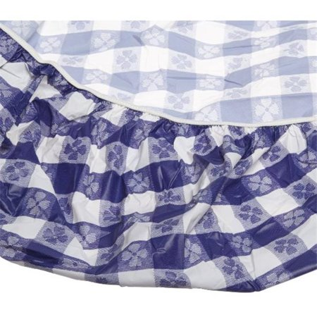 Kwik Covers 72-BW 72 in. ROUND KWIK COVER BLUE GINGHAM..
