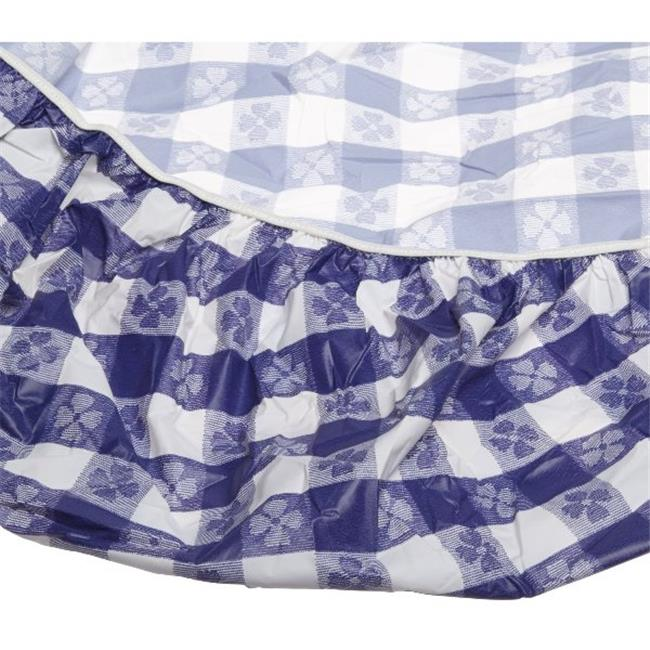 Kwik Covers 72-BW 72 in. ROUND KWIK COVER BLUE GINGHAM.. 25 Pack