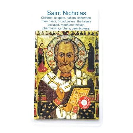 Relic Card 3rd Class Saint Nicholas Nikolaos Myra Nicholas Bari Patron of Children, Coopers, Sailors, Fishermen, Merchants, Brvoadcasters, The falsely Accused, Brewers, Pharmacists Nicolas ()