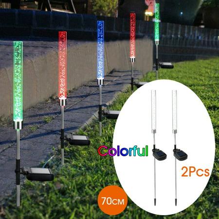 2X Solar Outdoor LED Plug Lawn Lamp Landscape Light Yard Garden Path  - image 2 de 9