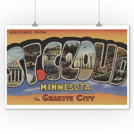St. Cloud, Minnesota - The Granite City - Large Letter Scenes (9x12 Art Print, Wall Decor Travel Poster)](Party City St Cloud)