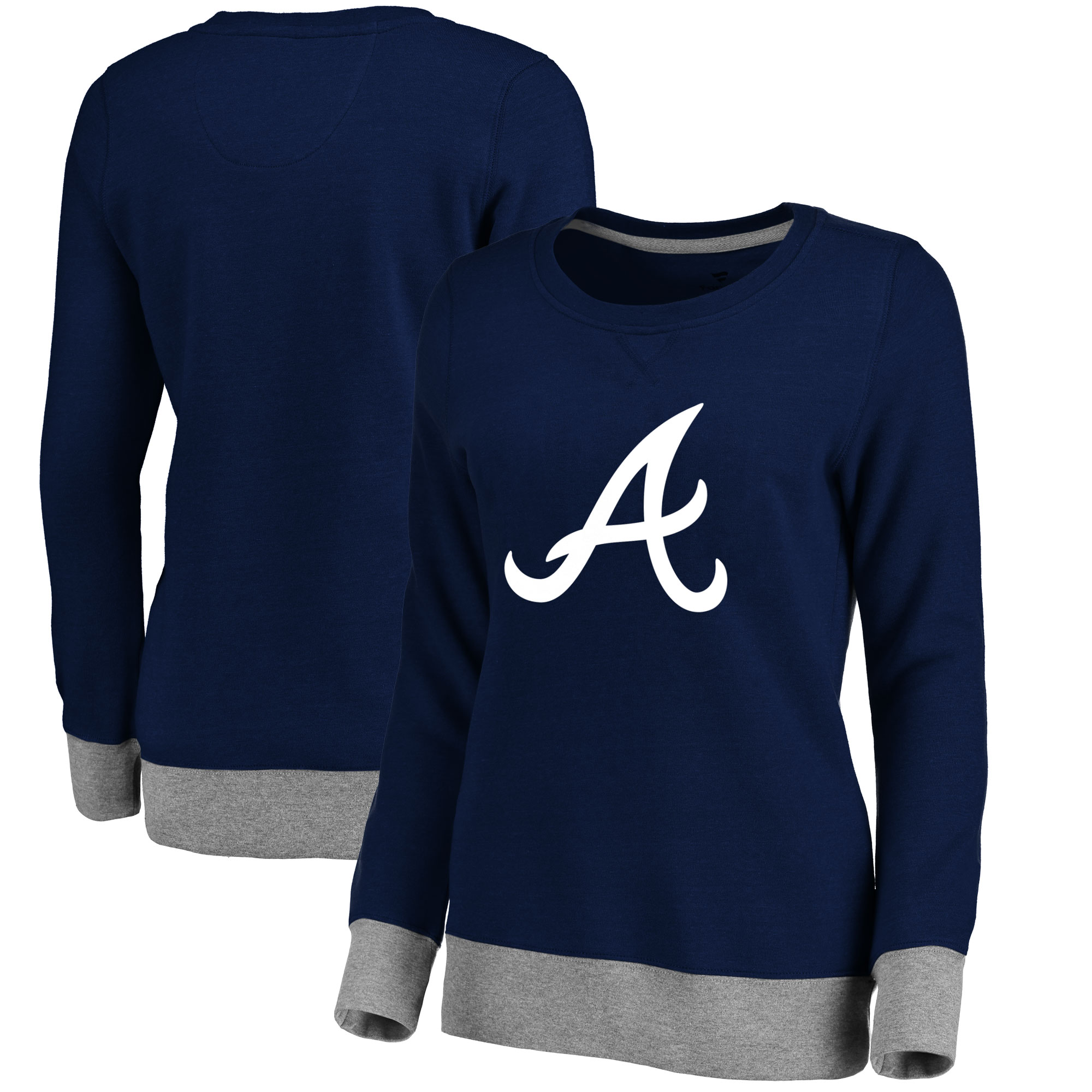 Atlanta Braves Women's Horizon Pullover Sweatshirt - Navy