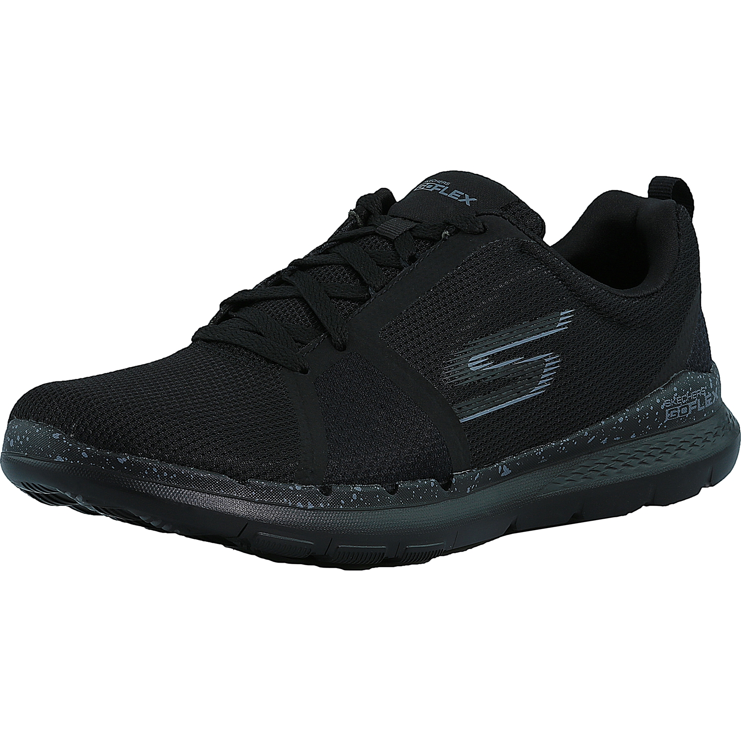 skechers s go flex charcoal pink ankle