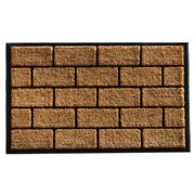 Momentum Mats Brick Master Coir and Rubber Doormat (2'4 x 4')