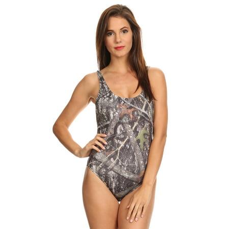 Women's 1-Piece Camo Bikini True Timber Swimwear Made in the (Women's Swimwear Made In Usa)