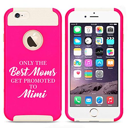 Shockproof Impact Hard Soft Case Cover for Apple (iPhone 7 / iPhone 8) The Best Moms Get Promoted to Mimi (Hot