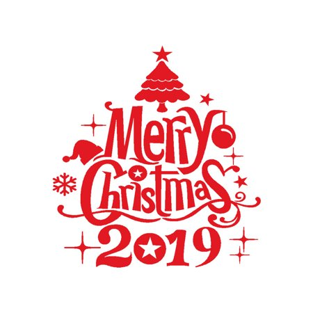 Follure New Year Merry Christmas Wall Sticker Home Shop Windows Decal