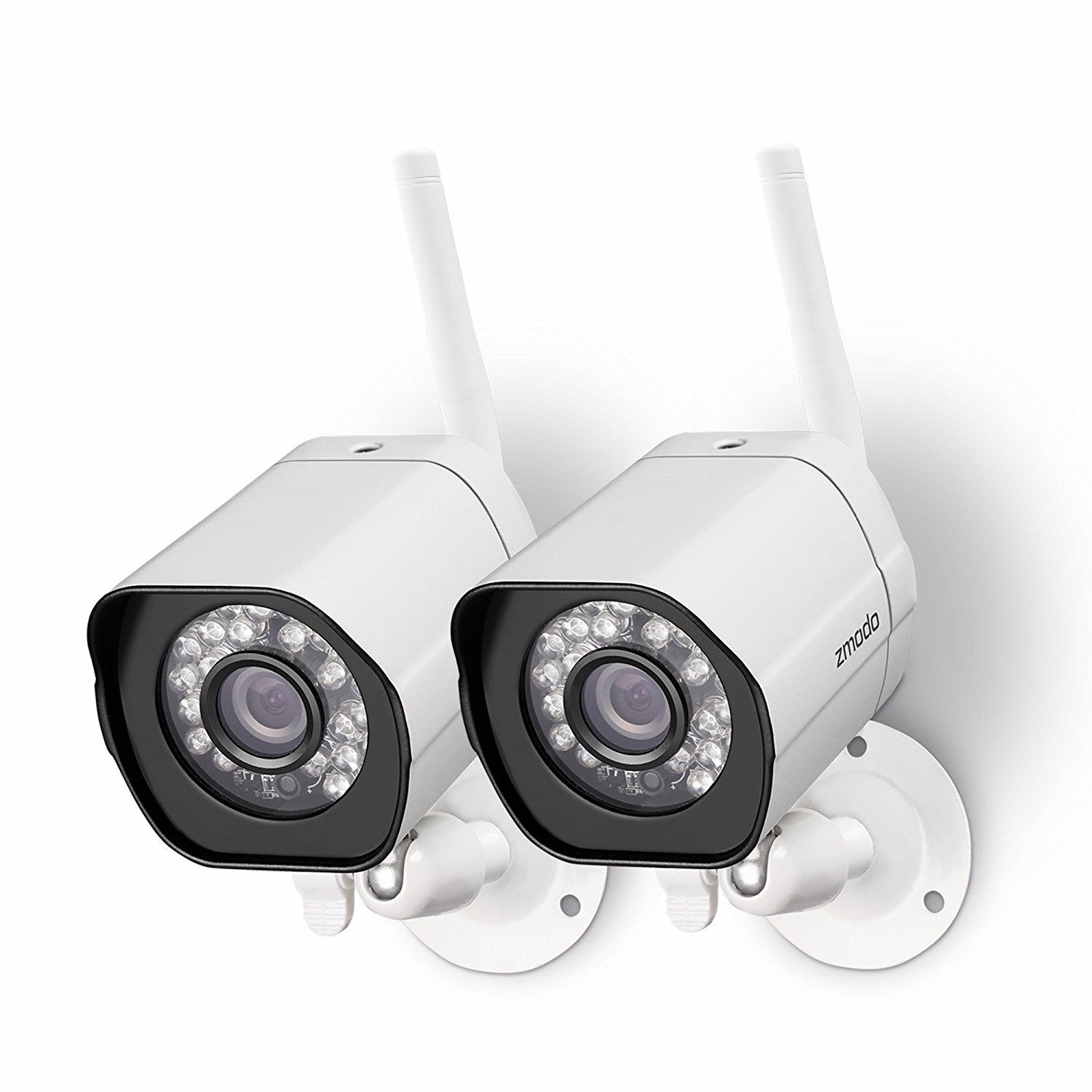 Zmodo Wireless Security Camera System (2 pack) Smart HD Outdoor WiFi IP Camer...
