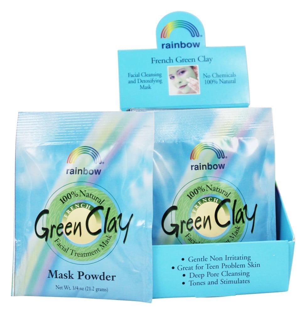 Rainbow Research - French Green Clay Facial Mask Powder - 0.75 oz.