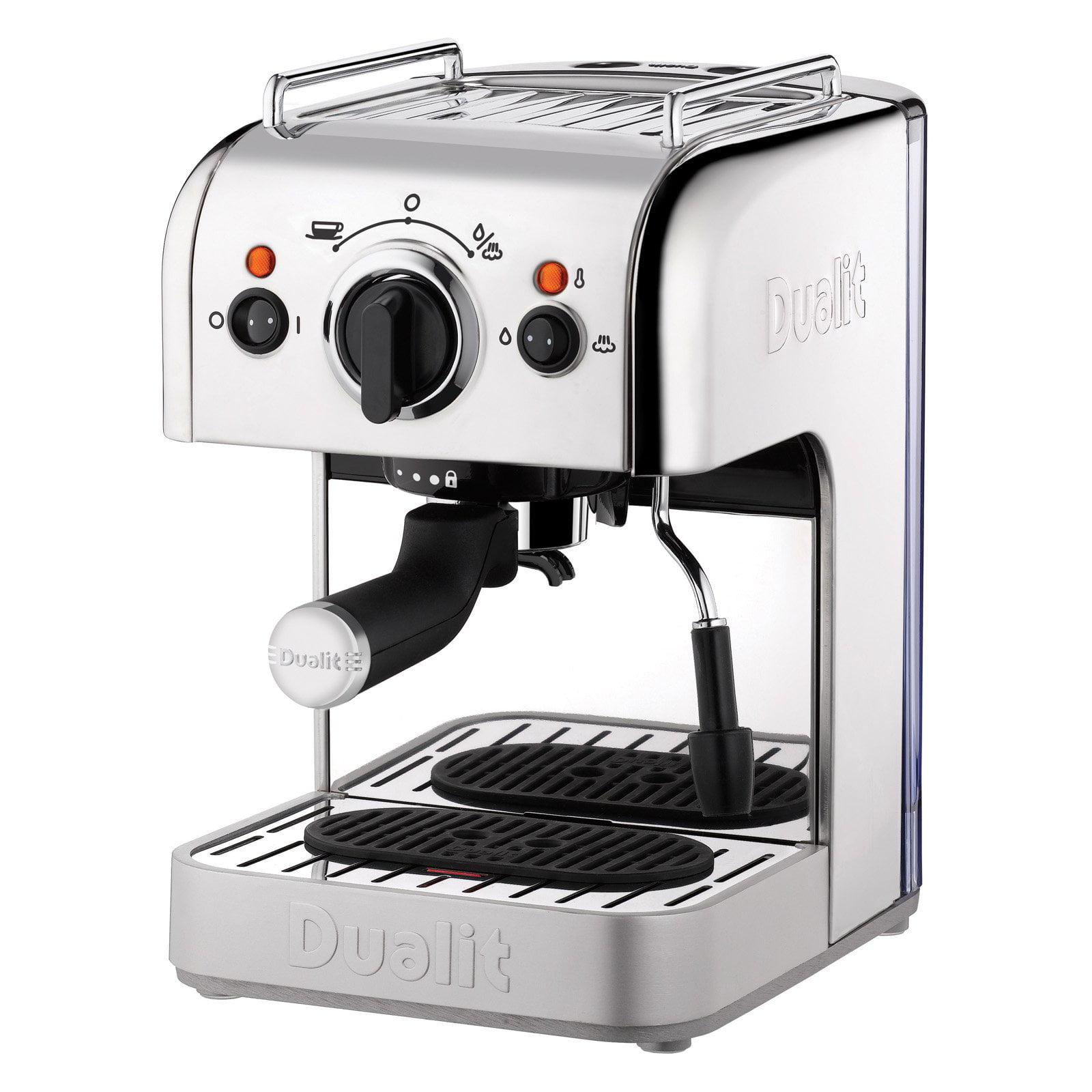 Dualit 84460 4-in-1 Espresso Machine with bonus NX adapter Polished Chrome by Dualit