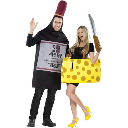Perfectly Paired Wine & Cheese Couples Costume - Socket Costume Couple