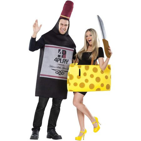 Perfectly Paired Wine & Cheese Couples Costume - Villain Couple Costumes