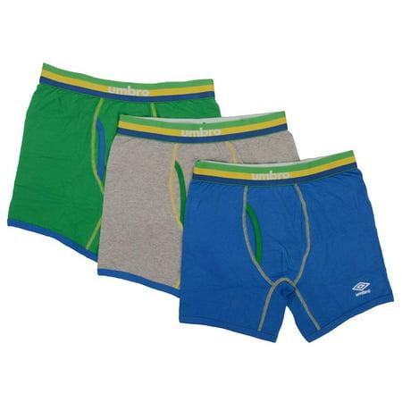 Umbro Men 3Pack Boxer Briefs Energizing Cotton 6