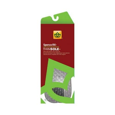 Spenco Shoe Inserts (Spenco RX ThinSole Orthotics 3/4 Length #5 1 Pair)