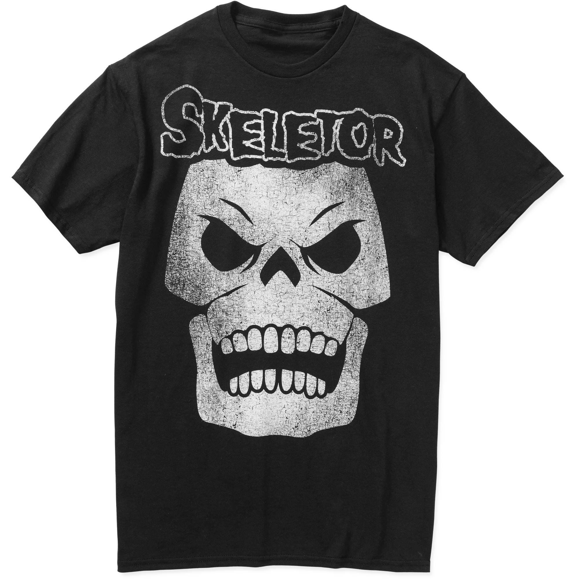 Skeletor Black & White Men's Graphic Tee