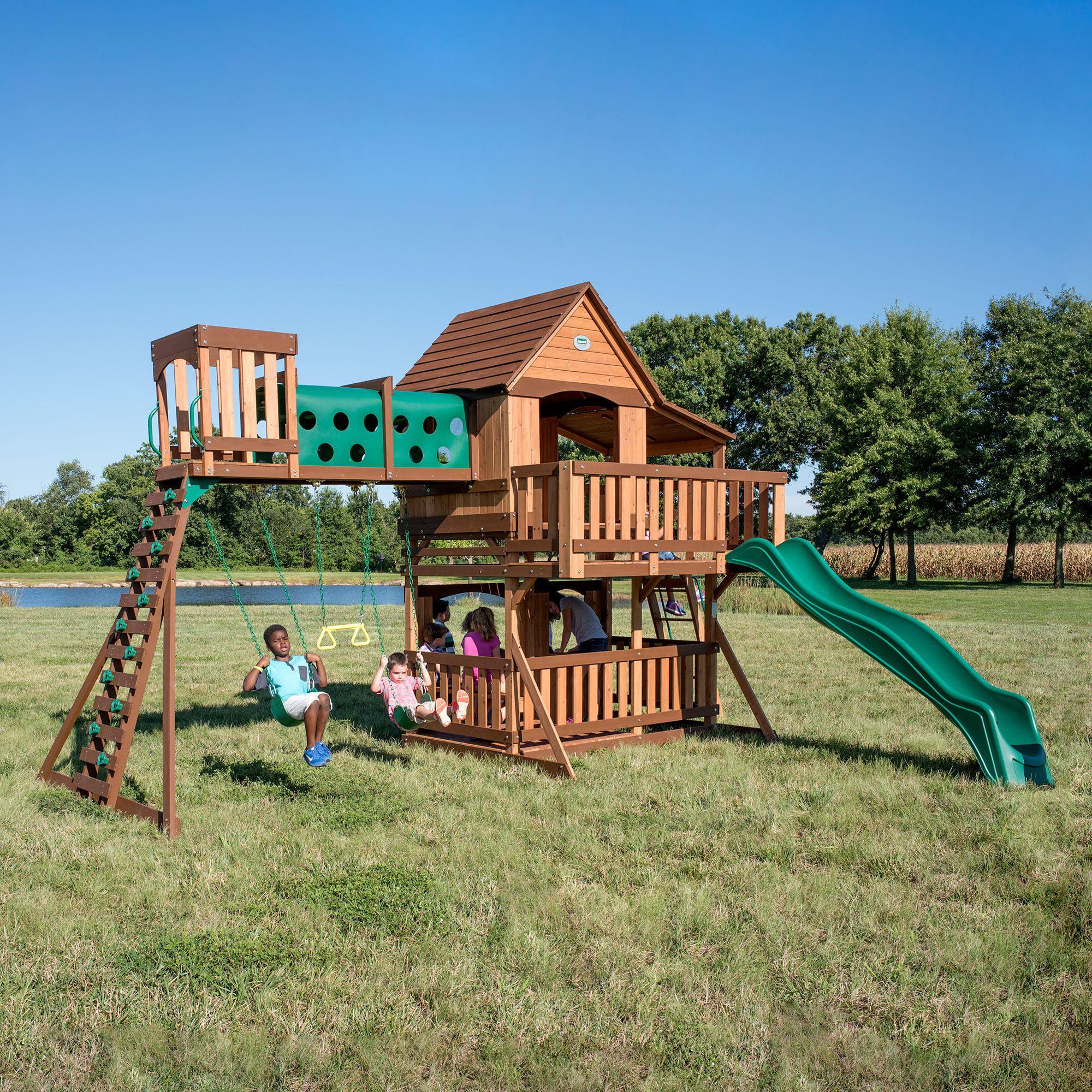 Backyard Discovery Woodridge Elite Swing Set - Walmart.com ...