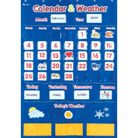 Learning Resources Calendar and Weather Pocket Chart - Classroom Calendar