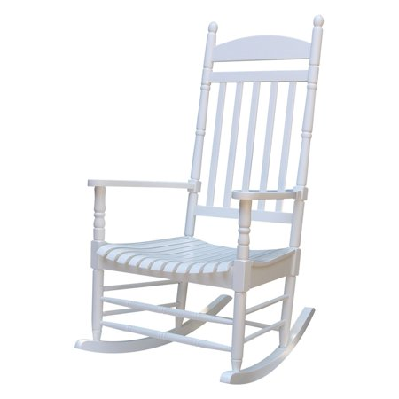 International Concepts Porch Rocker Turned Post Solid Wood White