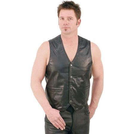 Lambskin Patched Leather - Lambskin Leather Vest #VM418K