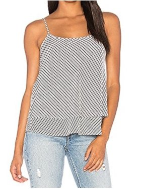 ea49174baf4ef7 Product Image Joie NEW Black Women s Size Large L Striped Layered Tank Cami Silk  Top