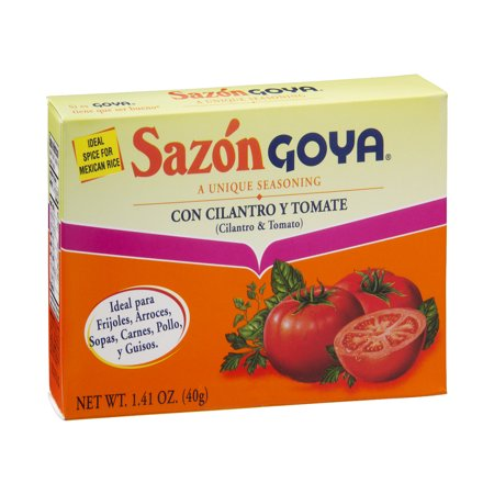 Goya Sazon Cilantro   Tomato Seasoning  1 41 Oz
