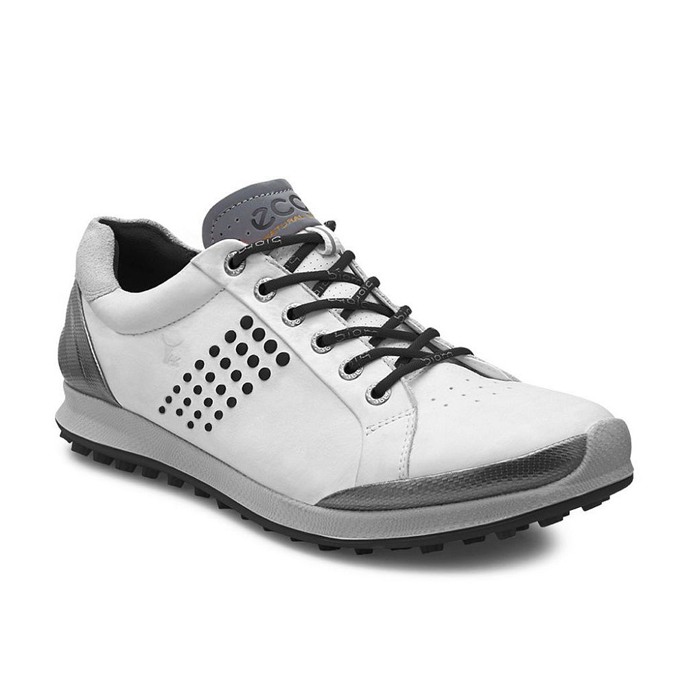 Ecco Men's BIOM Hybrid 2 Golf Shoes (White/Black, 10-10.5...