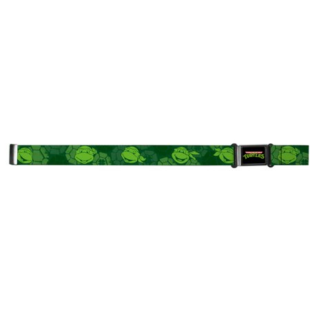 TMNT Cartoon TV Series Turtle Shell Faces Magnetic Web Belt
