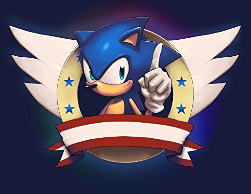 Sonic The Hedgehog Wings Stars Red Banner Edible Cake Topper Image Walmart Com Walmart Com