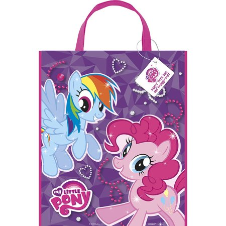My Little Pony Party Bag Fillers (Large Plastic My Little Pony Goodie Bag, 13 x 11 in,)