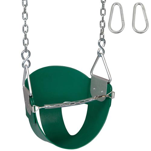 Swing Set Stuff Highback 1 2 Bucket Swing Seat With Chains And Hooks