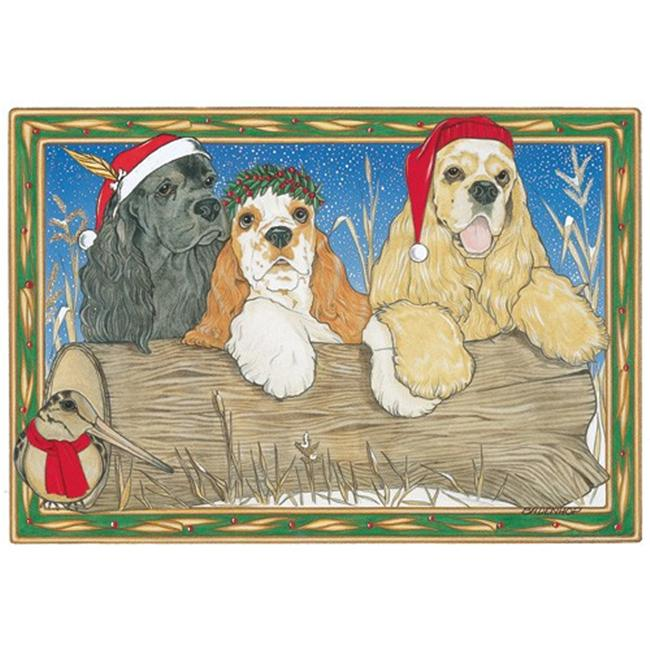 Pipsqueak Productions C862 Holiday Boxed Cards- Cocker Spaniel American Mix